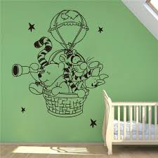 Disney Winnie The Pooh Wall Decal Hot Air Balloon Vinyl Decal Nursery Room Accessories Wall Stickers Home Decoration Wall Stickers Aliexpress