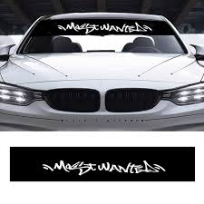 Ylshrf Windshield Decal Car Front Rear Window Windshield Decal Sticker Cover Styling Decoration Car Window Decal Walmart Com Walmart Com