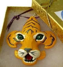 ornament lsu tigers fleur de