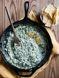 spinach cream cheese dip on stove top