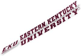 Amazon Com Eastern Kentucky University Eku Colonels Ncaa Name Logo Vinyl Decal Laptop Water Bottle Car Scrapbook 8 Inch Sticker Arts Crafts Sewing