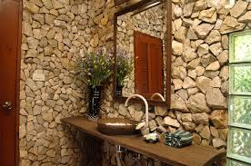 exposed stone walls