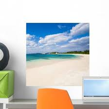 Deserted Tropical Beach Japan Wall Decal Wallmonkeys Com
