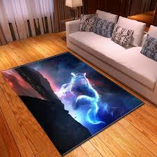 Creative 3d Wolf Printing Carpets For Living Room Home Area Rug Kids Bedroom Play Large Carpet Soft Flannel Child Room Crawl Mat Rugs Online Carpets Online From Aozhouqie 22 21 Dhgate Com