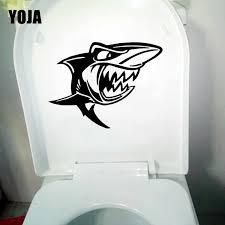 Yoja 24 4x17 4cm Great White Shark Cartoon Scary Jaws Fish Toilet Seat Decal Wall Sticker T5 0316 Wall Stickers Aliexpress