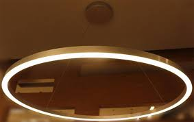 large ring led suspended pendant light