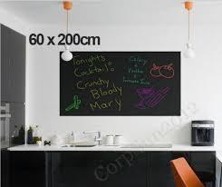 Large 60x200cm Blackboard Removable Wall Sticker Chalkboard Decal Free Chalks Ebay