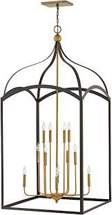 twelve light 3 tier chandelier bronze