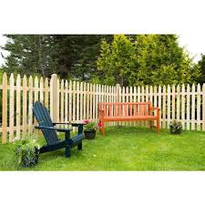 Unbranded 4 Ft H X 8 Ft W Eastern White Cedar Moulded 3 In Spaced Pointed Picket Rail Fence Panel 235684 The Home Depot