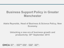 Business Support Policy in Greater Manchester Adele Reynolds, Head of  Business & Science Policy, New Economy Unlocking a new era of business  growth and. - ppt download