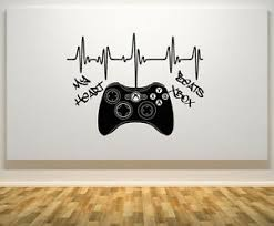 My Heart Beats Xbox 360 Controller Gampad Wall Art Decal Sticker Picture Poster Ebay