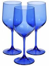 cobalt blue wine glasses hot spring