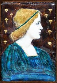 Lot-Art | An Arts and Crafts enamel of a maiden by Ada Hayes…