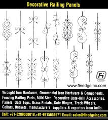 Decorative Wrought Iron And Ornamental Iron Components Fencing Hardware Railing Parts Gate Grill Parts Wrought Iron Hardware Accessories Manufacturers Exporters In India Uk Usa Germany Italy Canada Uae