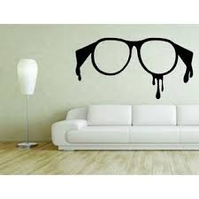 3m Wall Mural Sticker Decal Vinyl Decor Nerd Hipster Glasses Genius Removable