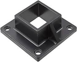 Floor Flange For 2 Square X 2 Square Aluminum Fence Posts Deck Mount Black Amazon Com