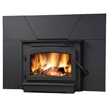 wood burning fireplace insert with