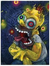 Homer Art Print The Simpsons Art Homer Simpson Wall Art Etsy