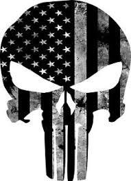 Punisher American Flag Black And Gray Skull 3m Vinyl Decal Reflective Sticker Ebay