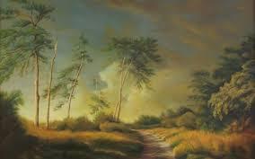 gr trees landscape art painting