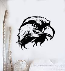 Vinyl Wall Decal Bald Eagle Head Tribal Bird Living Room Decor Sticker Wallstickers4you