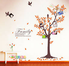 wall decal sticker birds frames tree w quote family like