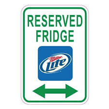 Miller Lite Beer Reserved Fridge Sticker Decal Multiple Sizes Available Buy Now For Only 3 95 Fridge Stickers Lite Beer Miller Lite