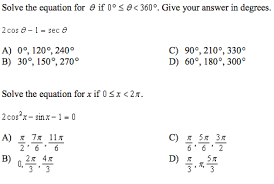 solved solve the equation for theta if