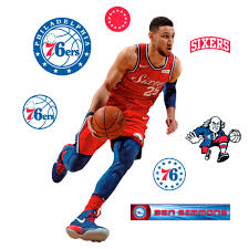 Ben Simmons X Large Officially Licensed Nba Removable Wall Decal Removable Wall Decals Removable Wall Ben Simmons