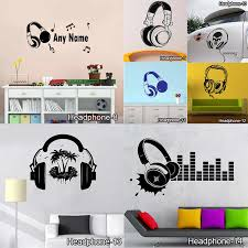 Funny Diy Music Dj Headphones Wall Stickers Boys Room Wallpaper Vinyl Decals Music Is My Life Fashion Design Home Decoration Wallpapers Aliexpress