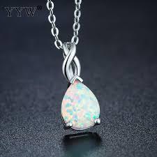 gem stone crystal necklace gold color