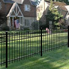 Tuffbilt Cascade Heavy Duty 2 1 2 In X 2 1 2 In X 7 1 3 Ft Black Aluminum Fence End Post 73003525 The Home Depot Aluminum Fence Fence Design Aluminum Fence Gate