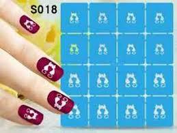 s018 reusable hollow nail art stencils