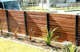 Horizontal Wood Fence With Metal Posts Google Search Wood Fence Design Wood Fence Backyard Fences