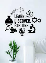 Learn Discover Explore Science Decal Sticker Wall Vinyl Art Home Room Boop Decals