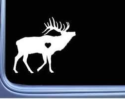 Amazon Com Elk Lil Heart L801 6 Inch Sticker Bugle Call Camo Hunting Bull Window Decal Laptop Car Truck Bumper Window Vinyl Decal Automotive