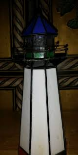 stained glass lighthouse lamp the