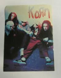 Korn Sticker Collectible Rare Vintage 1999 Metal Live Window Decal Ebay
