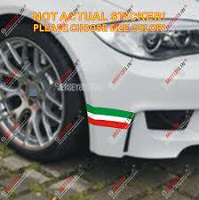 Italy Italian Flag Map Car Decal Sticker For Fiat Ferrari Lamborghin Etc