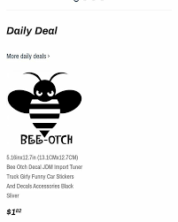 Truck Girly Bee Otch Decal Tuner Funny Jdm Import Auto Parts And Vehicles Car Truck Graphics Decals Magenta Cl