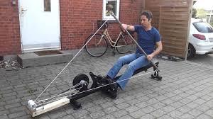 rowing machine rebuilt into kayak