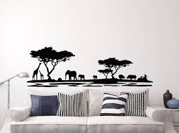 Safari Africa Forest Wall Decal Vinyl Wall Stickers For Living Room Home Wall Decoration Mario Wall Decals Mario Wall Stickers From Onlybrand 12 2 Dhgate Com