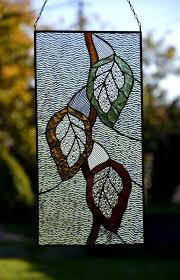 autumn leaf suncatcher stained glass