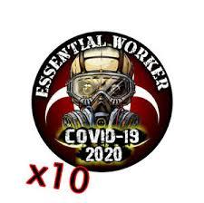 10 Pack Essential Worker Sticker Window Decal Workers Skull Radioactive Virus Ebay