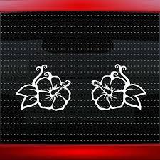 Hibiscus Flower Hawaiian Floral Purple Rhinestone Bling Car Decal Sticker 50 16 For Sale Online Ebay