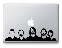 Foo Fighters Inspired Band Silhouette Music Macbook Laptop Decal Sticker Laptop Decal Stickers Foo Fighters Band Macbook Decal