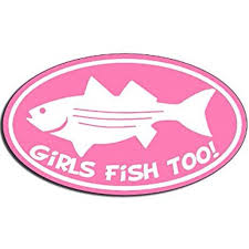 Oval Girls Fish Too Fishing Sticker Decal Female Fishing Decal 3 X 5 Inch Walmart Com Walmart Com
