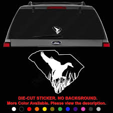 Amazon Com South Carolina Duck Drake Hunting Die Cut Vinyl Decal Sticker For Car Truck Motorcycle Vehicle Window Bumper Wall Decor Laptop Helmet Size 8 Inch 20 Cm Wide Color Gloss White