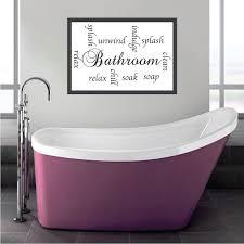 Bathroom Sayings Decal Bathroom Wall Decal Murals Primedecals