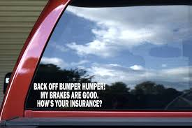 10 5x3 5 Die Cut Back Off Bumper Humper White Window Sticker Car Decal Stickertalk